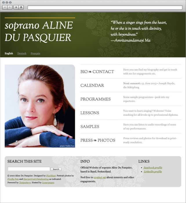 Aline Du Pasquier Website